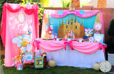 PRINCESS Party - Princess STRAW FLAG- Princess Birthday