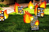 FIREMAN Birthday- Fireman BACKDROP- Fire Fighter Party- Fireman Party- Decorations - Ideas