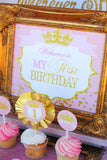 PRINCESS BIRTHDAY- INVITATION - First Birthday - Sparkle Invite