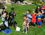 SUPERHERO Party- Superhero GAMES for kids- Superhero Birthday Party - Comic Party- Superhero Games for Kids Obstacle Course
