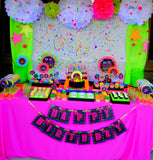 NEON PARTY- Diva Birthday- Rock Star Party- Tween Party- 1980 Party- Neon BURSTS