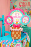 Ice Cream Party - ICE CREAM Printables - Ice Cream - Sweet Shop - Ice Cream Shoppe - ICE CREAM Birthday - Ice Cream CIRCLE BURSTS