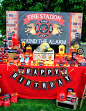 FIREMAN Birthday - Fire Fighter PHOTO BOOTH PROPS - Fireman Party- Decorations- Ideas- Fire Fighter Party