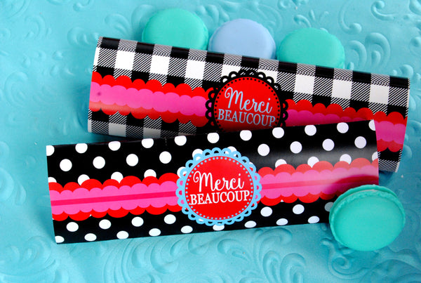 PARIS Party- AMERICAN in PARIS- Girl Party- Baking Party- Gracie- Doll Party- Cupcake- Baking- Poodle- CANDY BAR WRAPPERS - Bake Shoppe
