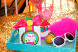 FLAMINGO Birthday Party- Hawaiian Luau- Luau- Flamingo TOPPERS