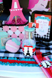 PARIS Party- AMERICAN in PARIS- Girl Party- Baking Party- Gracie- Doll Party-Cupcake- Baking- Poodle- PLACE MAT