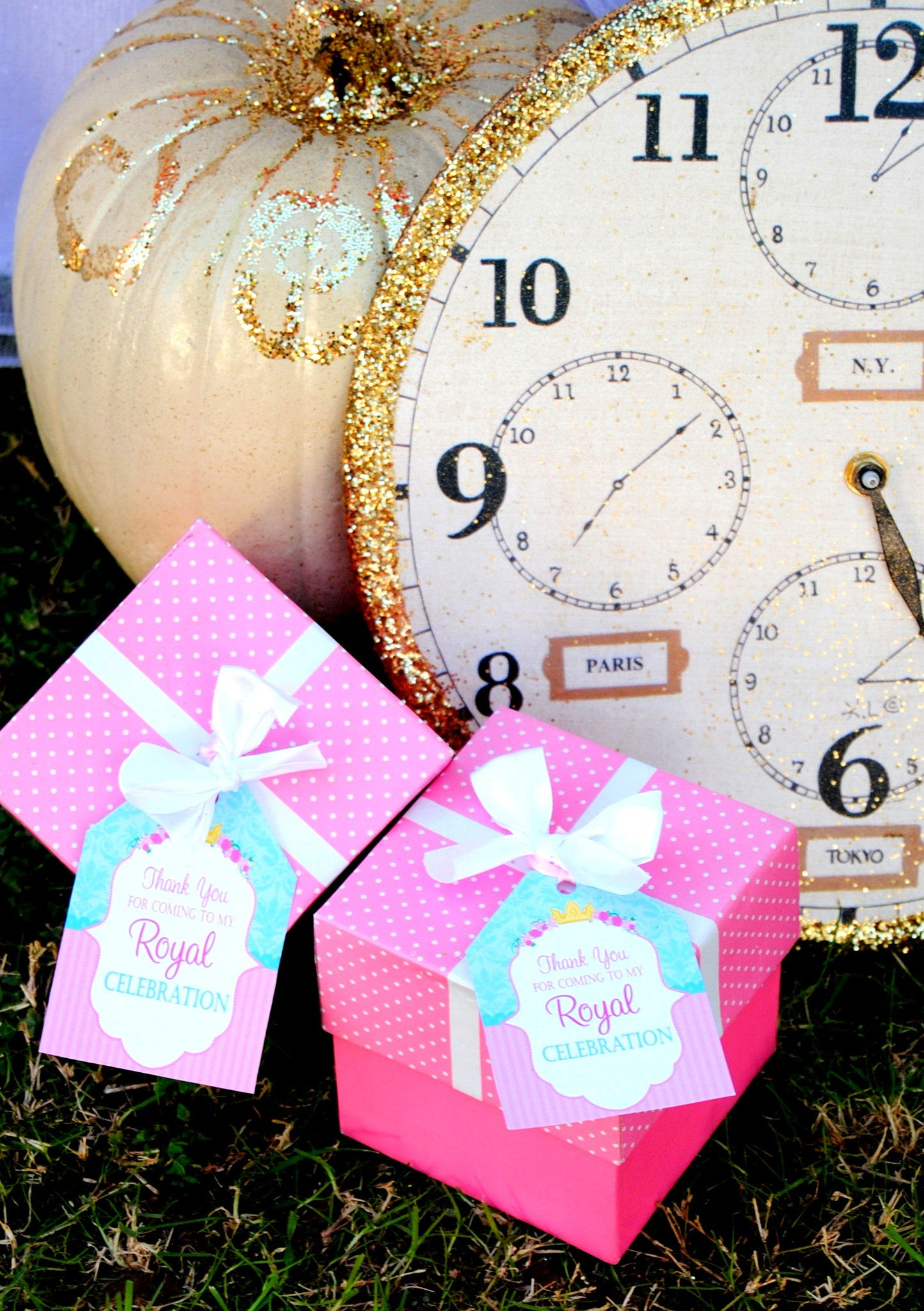 PRINCESS Party- Princess THANK YOU TAGS- Birthday Party
