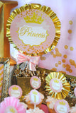 PRINCESS Birthday- Sparkle CUPCAKE TOPPERS- First Birthday- Princess Party- Sparkles Birthday- She Leaves Sparkles