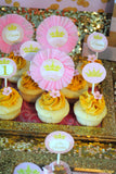 PRINCESS Birthday- Sparkle CUPCAKE TOPPERS- She Leaves SPARKLES Party