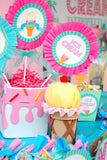 ICE CREAM Party - Ice Cream Printables - Ice Cream BACKDROP - Sweet Shop - Ice Cream Shop - Ice Cream Birthday