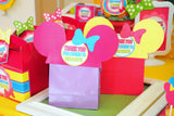 Bowtique Party - PINK MOUSE Birthday Party - Bowtique - Mouse BACKDROP