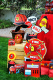 FIREMAN Birthday - Fire Fighter BOTTLE LABELS - Fireman Party- Fire Fighter Party