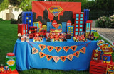 SUPERHERO Party- COMIC HERO Party- CITY SCAPES- Superhero Birthday- Comic- Superhero - Decorations