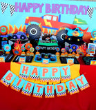 MONSTER Truck - Truck Birthday - Monster Truck BURSTS