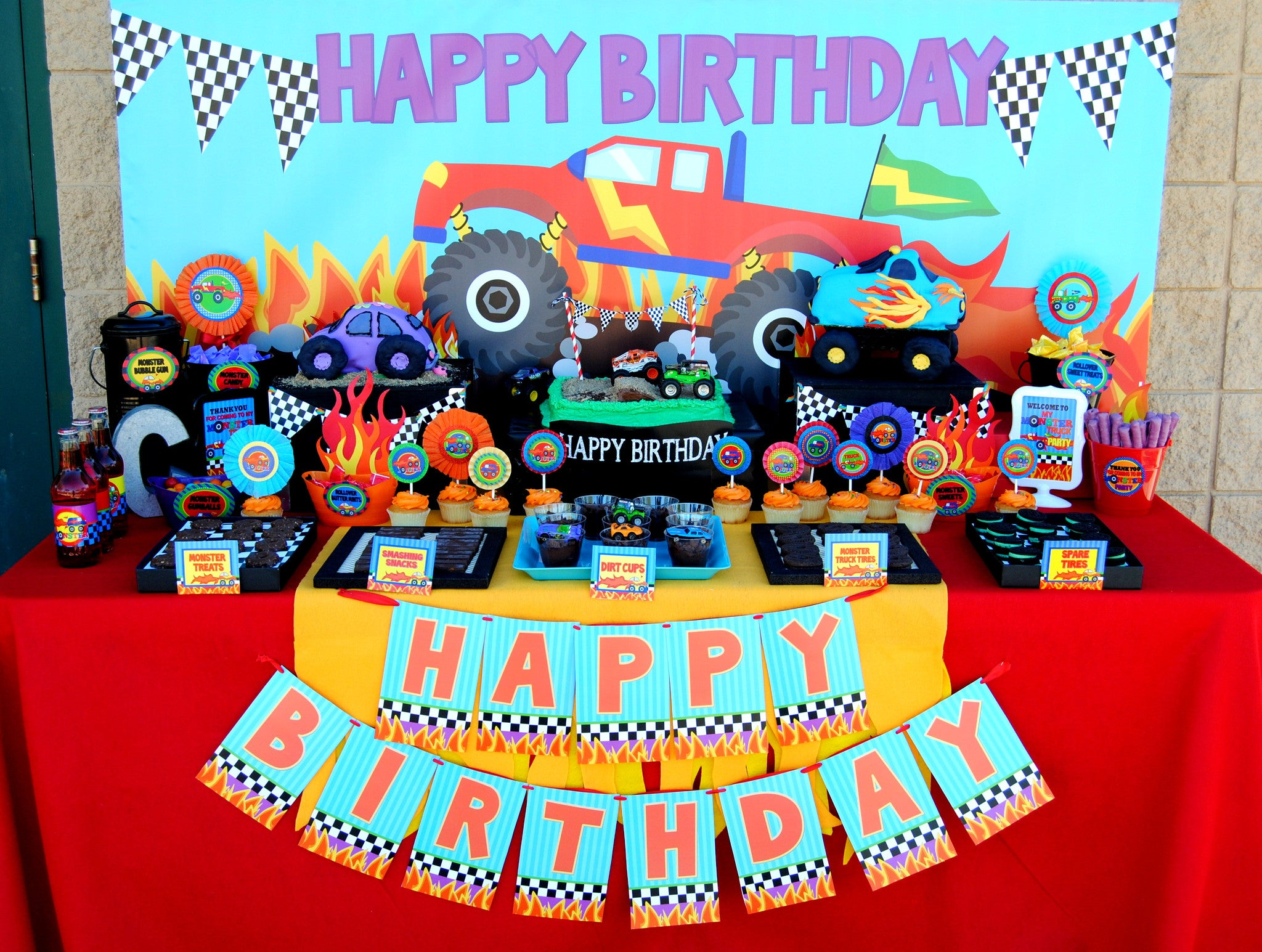 Monster Truck Party Monster Truck Sign Truck Party Krown Kreations Celebrations