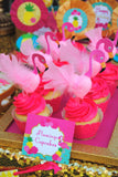 FLAMINGO Party- Flamingo Printables- Flamingo Birthday- Pineapple- Luau Party- Flamingo FLOWERS