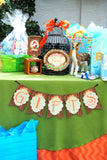 WOODLAND Party - Woodland Baby Shower- Fox Party- FLAGS