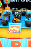 MONSTER TRUCK Party- Monster FOOD LABELS- Race Party- Monster Jam