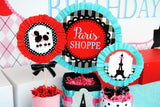 PARIS Party- AMERICAN in PARIS- Girl Party- Baking Party- Gracie- Doll Party- Cupcake- Baking- Poodle- WELCOME SIGN