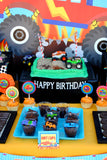 MONSTER Truck - Monster Truck PARTY SIGNS - Race - Truck Party