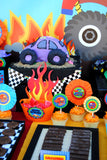 MONSTER TRUCK Party- Monster Truck Banner- Monster Jam Party- Race Car Party- Truck Party