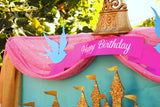 PRINCESS Party - RIBBON BANNER - Pink Princess Birthday