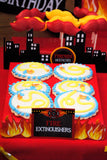 FIRE FIGHTER Party- FIREMAN CITY SCAPE- Fire Truck- Fireman Party