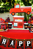 FIRE FIGHTER Party- FIREMAN CITY SCAPE- Fire Truck Party- Fire Department- Fireman Party