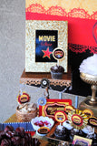 MOVIE PARTY - GLAM - HOLLYWOOD Party - Cinema FOOD LABELS