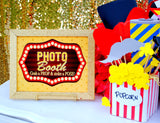 MOVIE PARTY - HOLLYWOOD - GLAM SIGN - Cinema Party Sign