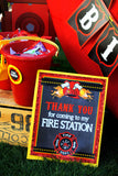 FIRE FIGHTER Birthday Party- FIREMAN HELMET- Fire Truck- Fireman Party