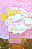 PRINCESS Birthday - Princess COMPLETE - She Leaves Sparkles - First Birthday - Crown Party - Princess Party - Little Girl - One - Pink and Gold Glitter - 1st Birthday - Girl