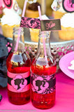 FASHION DIVA Party- Diva Party Printables- Diva Party- Pink- FOOD