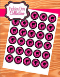 FASHION DIVA Party- Diva Party Printables- Diva Party- CIRCLES