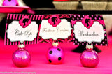 FASHION DIVA Party- Diva Party Printables- CANDY JAR- Pink