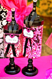 FASHION DIVA Party- Diva Party Printables- STRAW FLAGS