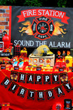 FIREMAN Birthday - Fire Man FLAMES - Fire man Party- Fire Fighter Party