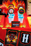 FIREMAN Birthday - Fire Man FLAMES - Fire Fighter Party- Fireman Party