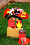 FIREMAN Party- Fire Figher Party- FIRE FIGHTER BAG TOPPERS