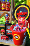 FIREMAN Party - Fire Truck Party- Fire Fighter Party- FIRE FIGHTER STRAW FLAGS