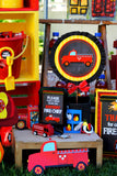 FIREMAN Birthday- Fire Fighter Party- CENTERPIECE- Fireman Party Decorations