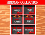FIREMAN Party - Fire Fighter Party - Fire Man CANDY LABELS