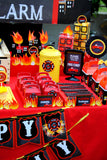 FIREMAN Birthday- Fire Fighter CENTERPIECE- Firefighter Party- Fireman Party