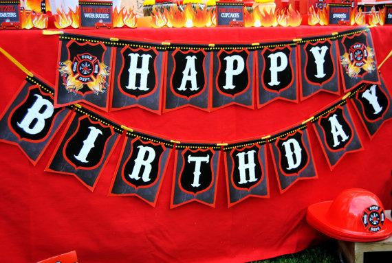 FIREMAN Birthday Fire Fighter INVITATIONS Fireman Party Fire – Fireman Party Invitations