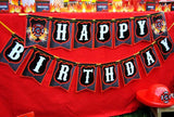 FIREMAN Birthday- Fire Fighter Party- CUPCAKE TOPPERS- Fireman Party