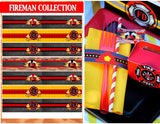 FIREMAN Party- Fire Fighter Party- Fire- FIRE FIGHTER CANDY WRAPPER