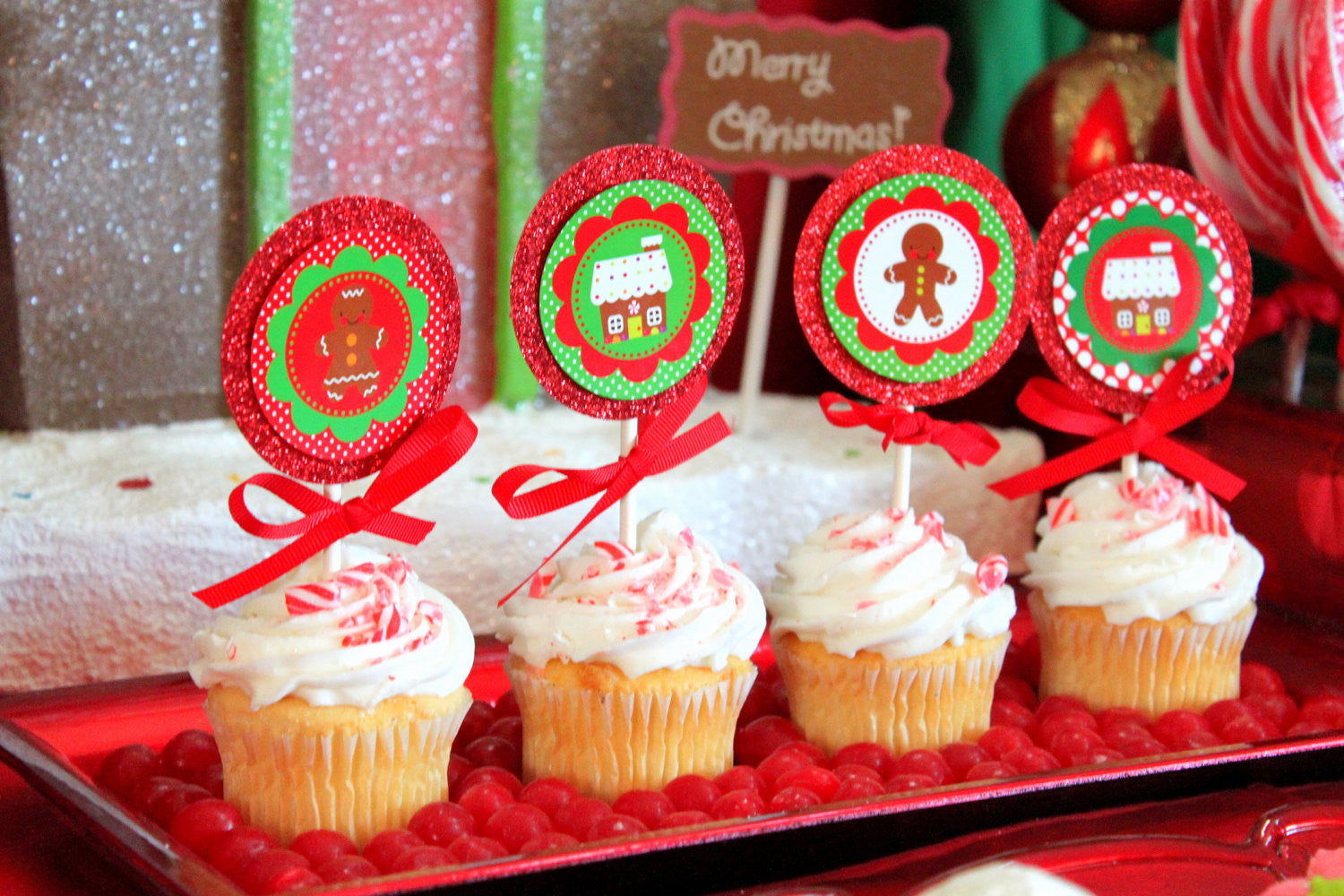 GINGERBREAD MAN CHRISTMAS- CUPCAKE - Reindeer