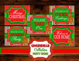 GINGERBREAD MAN CHRISTMAS-SIGNS-PARTY-HOLIDAY