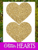 Gold Heart - BRIDAL SHOWER - GLITTER HEARTS - Wedding