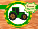 TRACTOR Party- TRACTOR CIRCLE BURSTS- Green Tractor Birthday